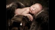 Baby photography glasgow newborn baby in army helmet