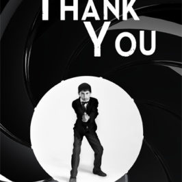 James Bond themed thank you card