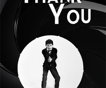 James Bond themed thank you card