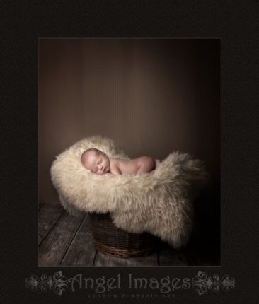Glasgow baby photography baby on fur rug